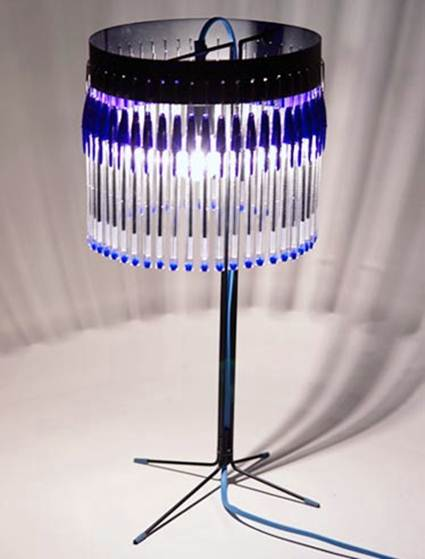 Lamps With Bic Pens 2