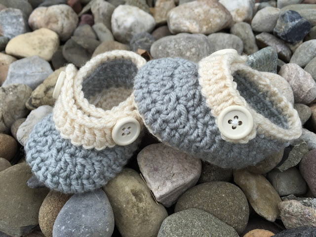 Crochet Pattern: Upton Baby Booties