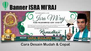 Desain Spanduk Isra Mi'raj 1440H di CorelDRAW - TUTORiduan.com