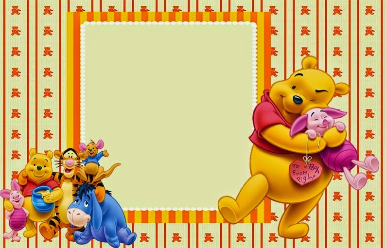 Cute Winnie the Pooh: Free Download Invitations.