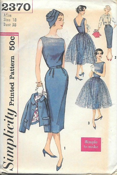 1950's Simplicity Afternoon to Evening Dress Pattern