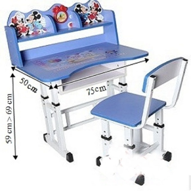 meja dan kerusi belajar kanak kanak