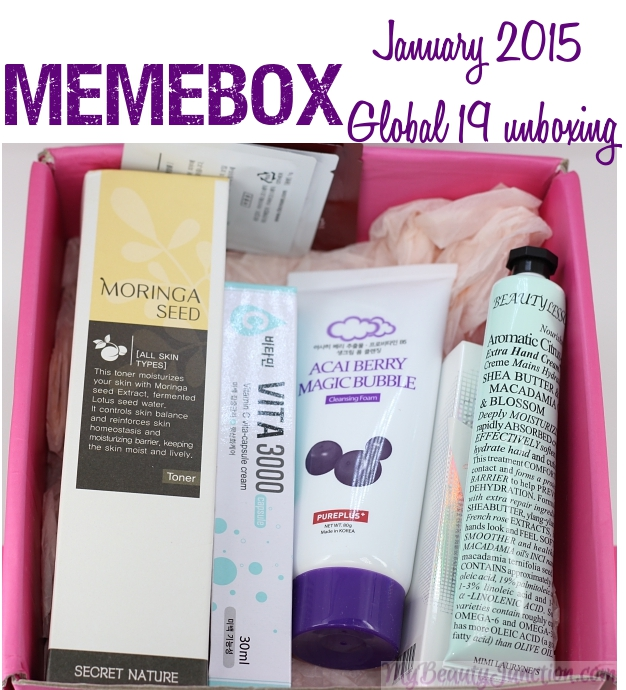 Memebox January beauty box 19 review, unboxing