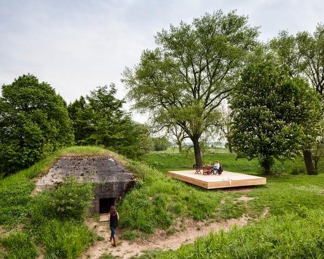 rumah minimalis kecil di bawah tanah rancangan desain
