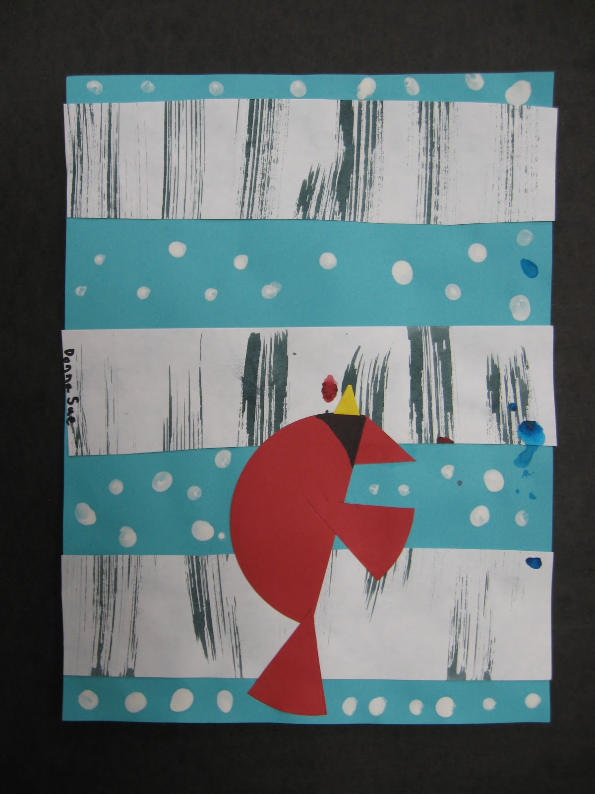 Mr Lineberger S Art Room First Grade Lesson Winter