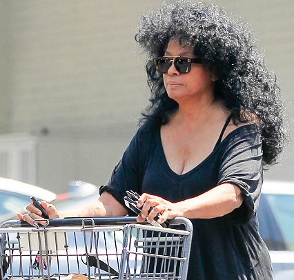 diana ross grocery shopping Beverly hills