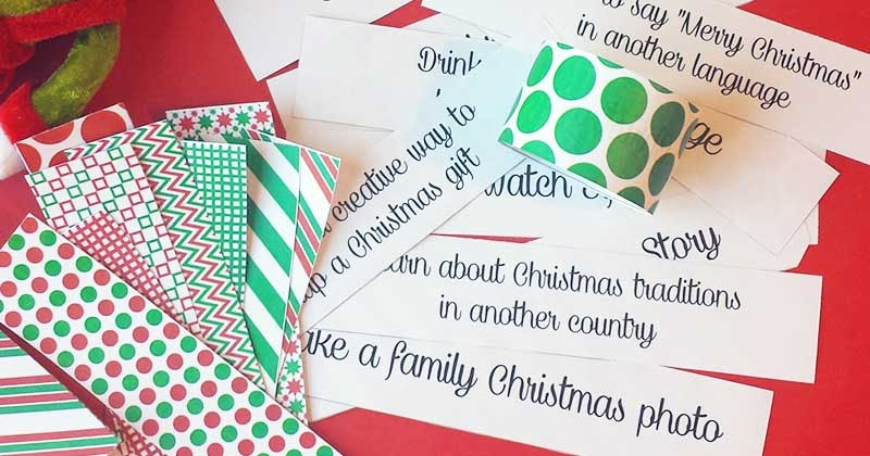 free printable christmas activities paper chain sunny day family. Black Bedroom Furniture Sets. Home Design Ideas