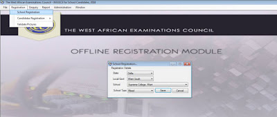waec offline registration profile creation