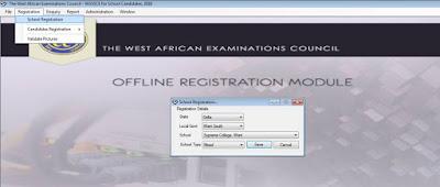 waec offline registration profile creation