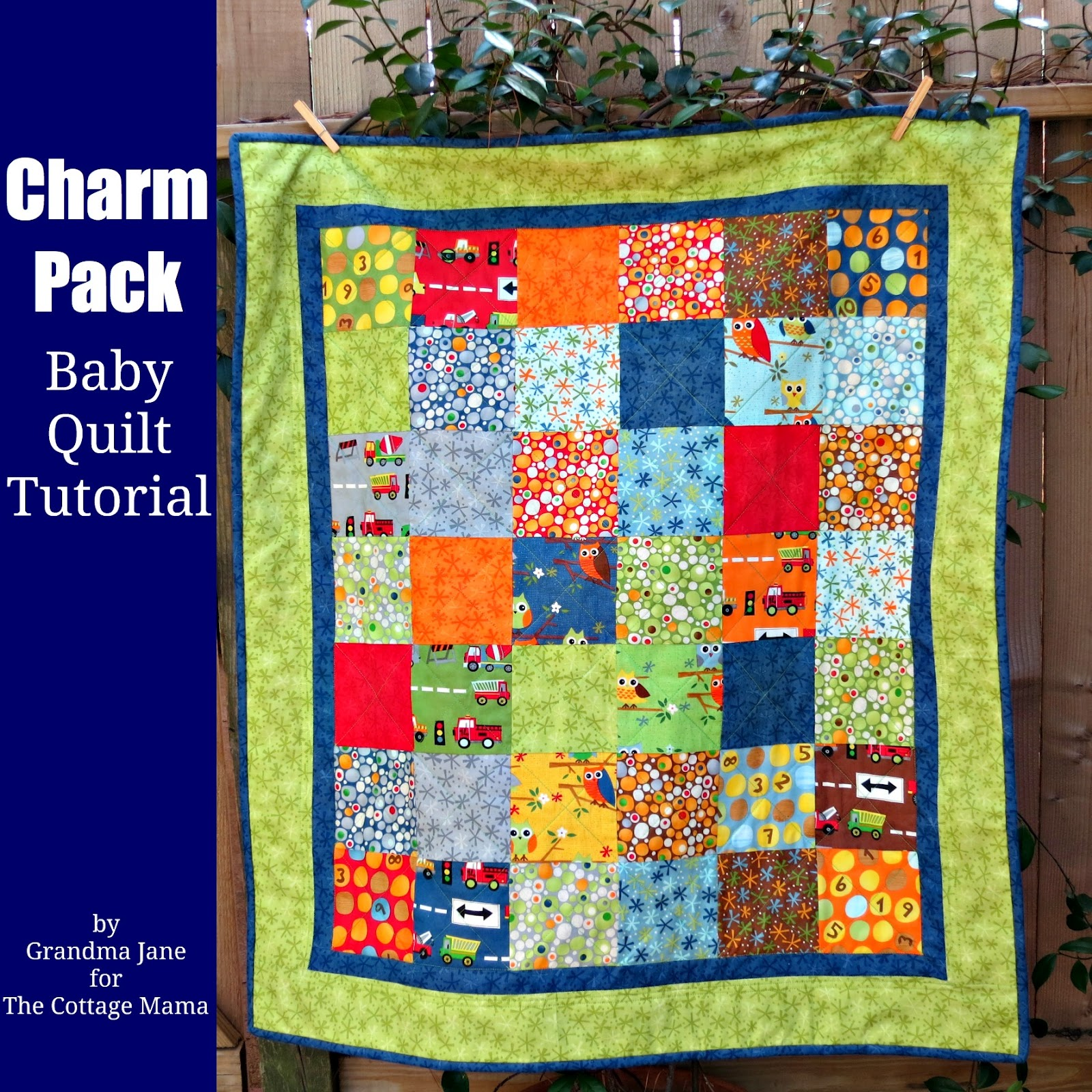 Baby Quilts.com Charm Pack Baby Quilt Tutorial Guess Whoooo Loves You