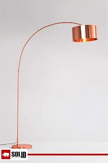 COPPER GOOSENECK ARCO FLOOR LAMP