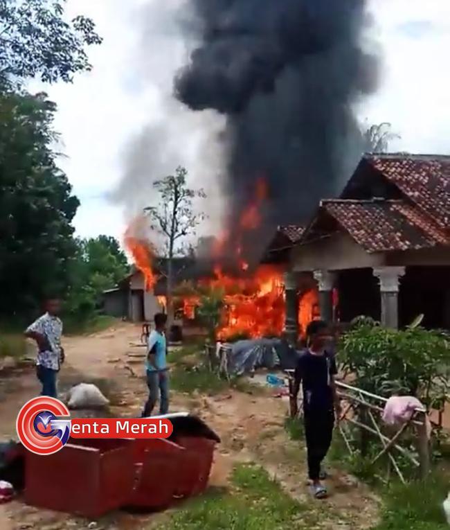 Rumah Kontrakan di Mesuji Terbakar Saat Penghuninya Tertidur Pulas