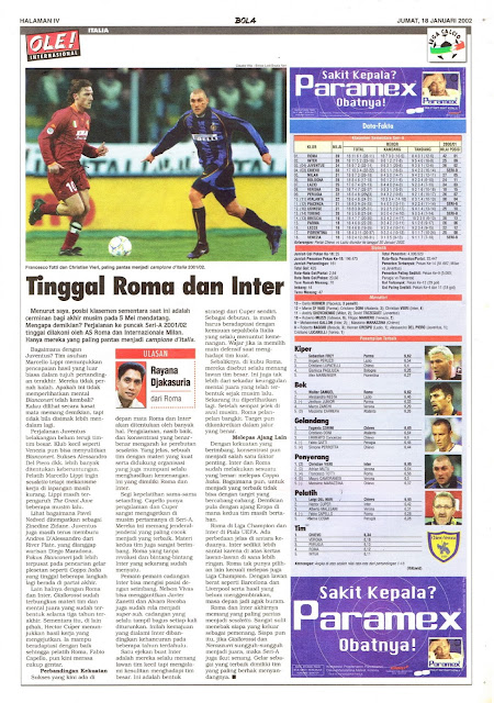 TINGGAL ROMA DAN INTER
