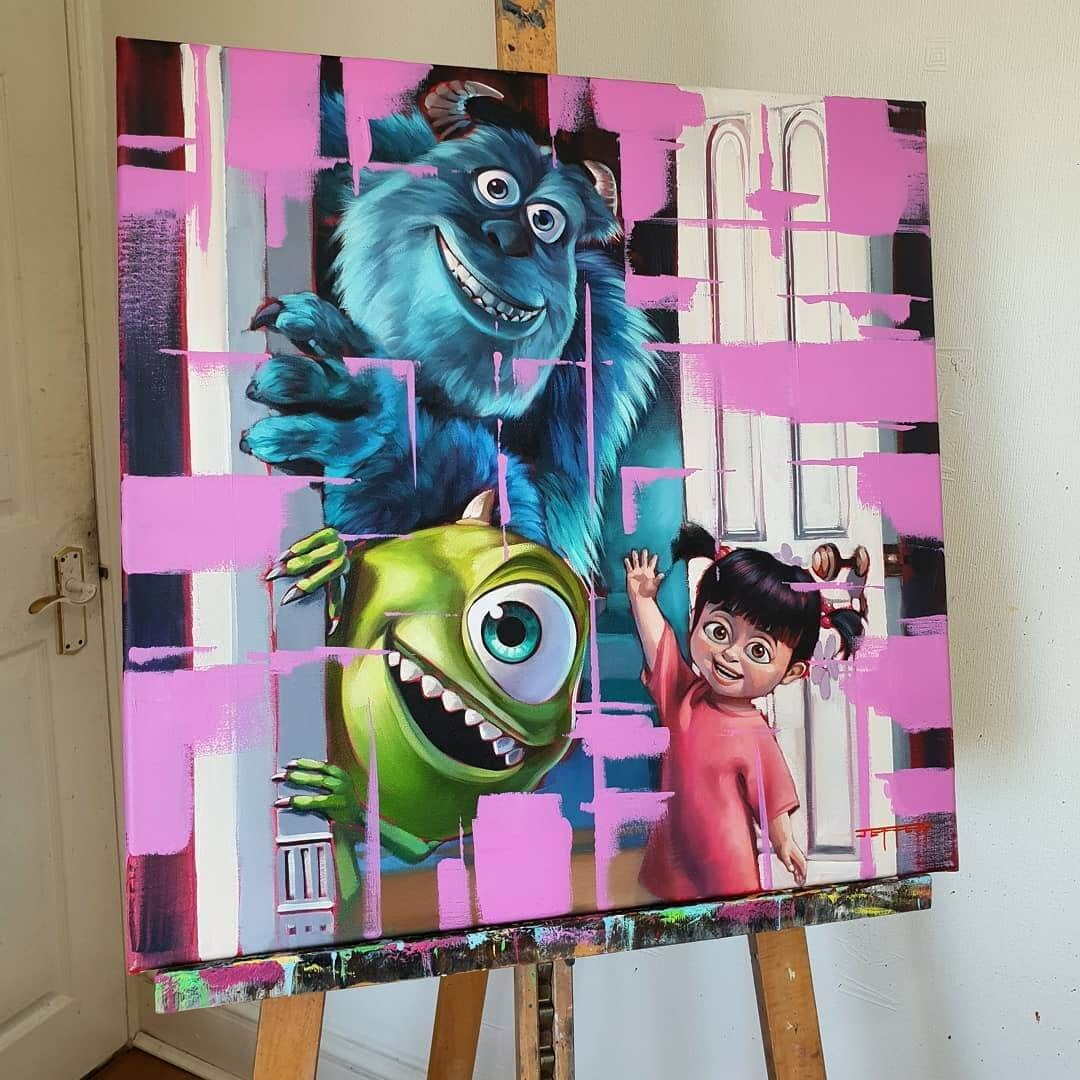 11-Mosters-Inc-Ben-Jeffery-Superhero-and-Villain-Movie-Paintings-www-designstack-co