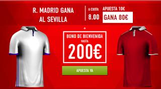 Supercuota 8 sportium Real Madrid vs Sevilla + 200 euros liga 14 mayo JRVM