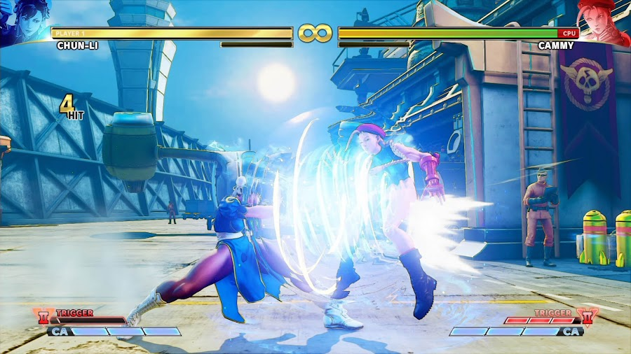 street fighter v chun li vs cammy