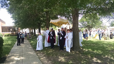 Corpus Christi Procession at St. Jane Frances de Chantal, May 29, 2016