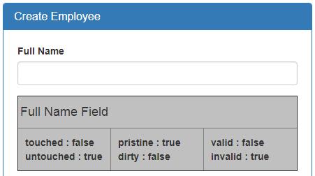 angular form validation properties
