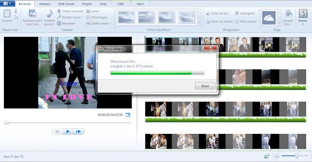 proses penyimpanan file windows movie maker