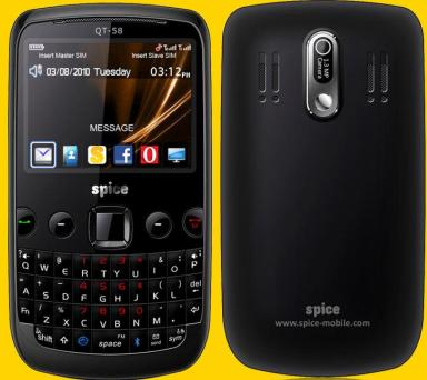 Spice QT-58 full specifications | MOBIPRESS
