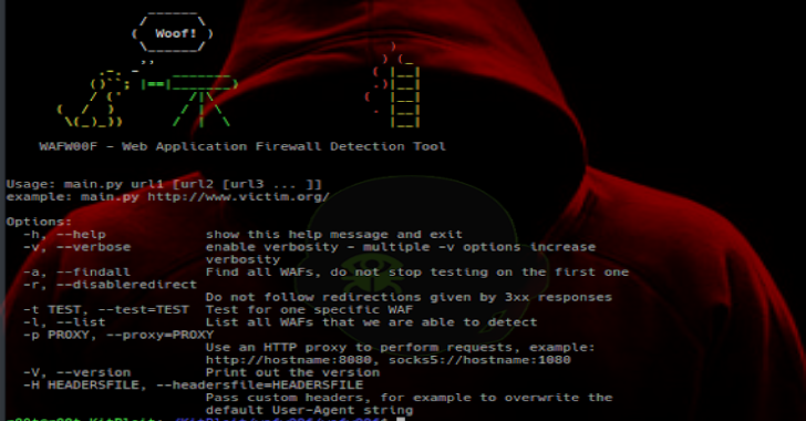 WAFw00f : Identify & Fingerprint Web Application Firewall (WAF) Products Protecting A Website
