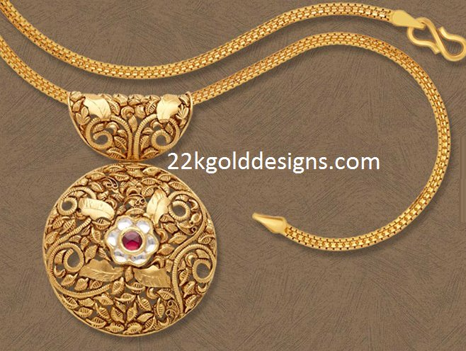 Designer gold chain archives 22kgolddesigns category designer gold chain round antique gold pendant aloadofball Gallery