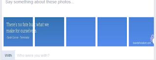 Cara Membuat Gambar Bersambungan di Kolom Intro di Facebook