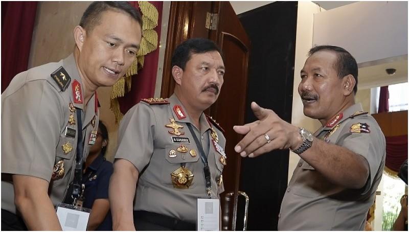Kapolri Jenderal Pol Badrodin Haiti dan Wakapolri Komjen Pol Budi Gunawan