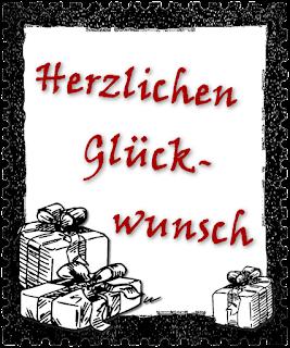 """Briefmarken-Clipart """"Herzlichen Glückwunsch"""""""