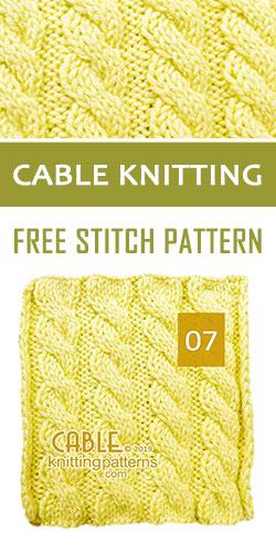Cable Knitting Free Stitch Pattern 07