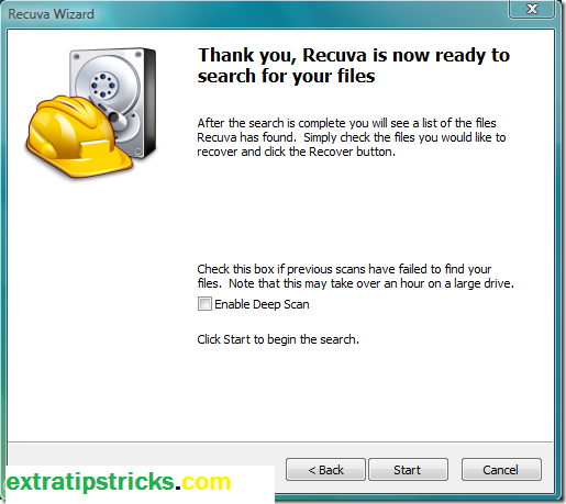 How to recover deleted files using recuva/use backup/recycle bin