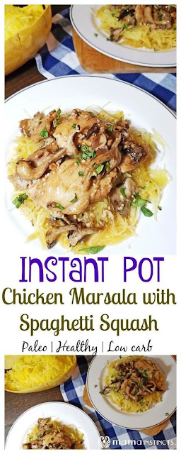 INSTANT CHICKEN MARSALA WITH SPAGHETTI SQUASH