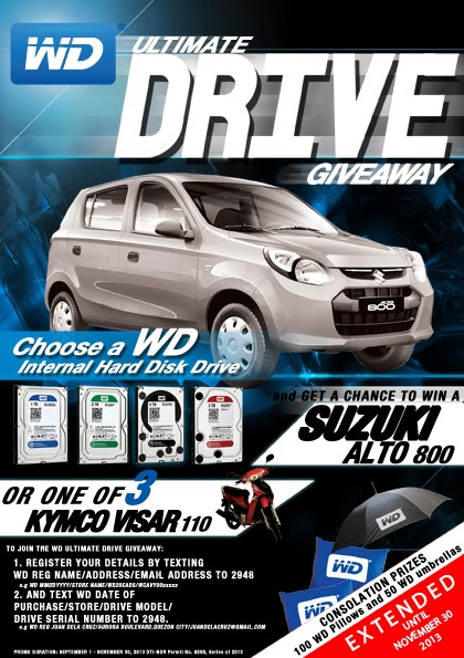 WD Ultimate Drive Giveaway Promo