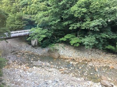 川古温泉 部屋から見下ろす景色
