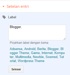 Label Blogger