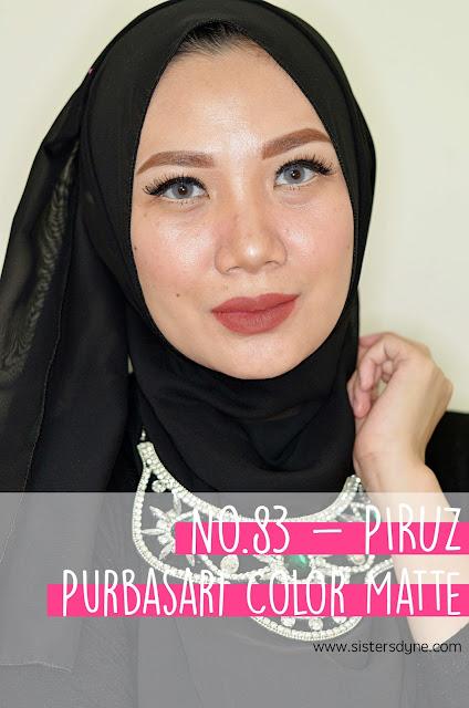 purbasari lipstick color matte 83 piruz