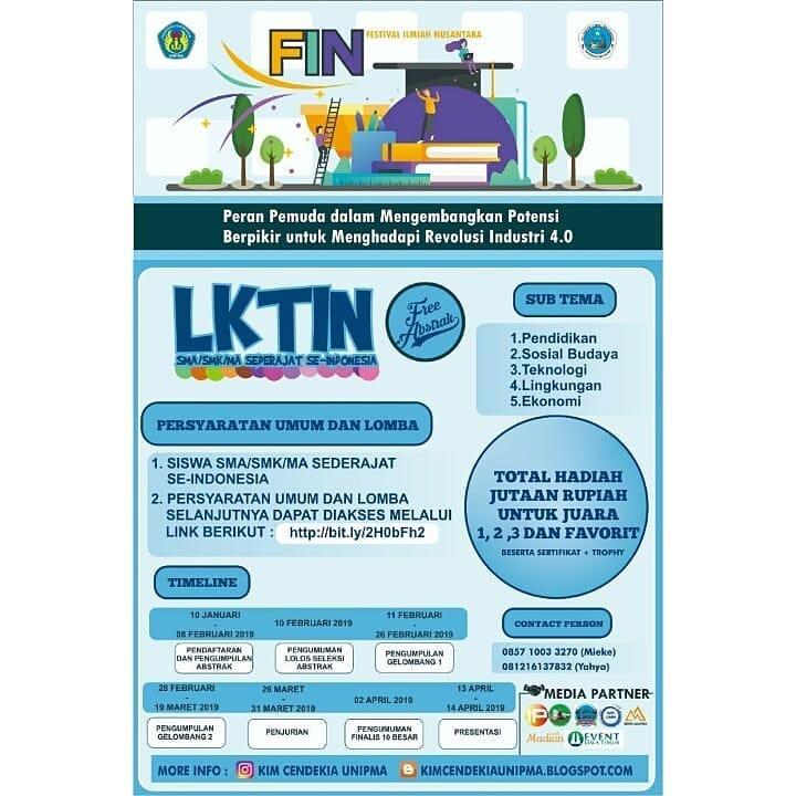 Lomba Festival Ilmiah Nasional (FIN) 2019 SMA Sederajat