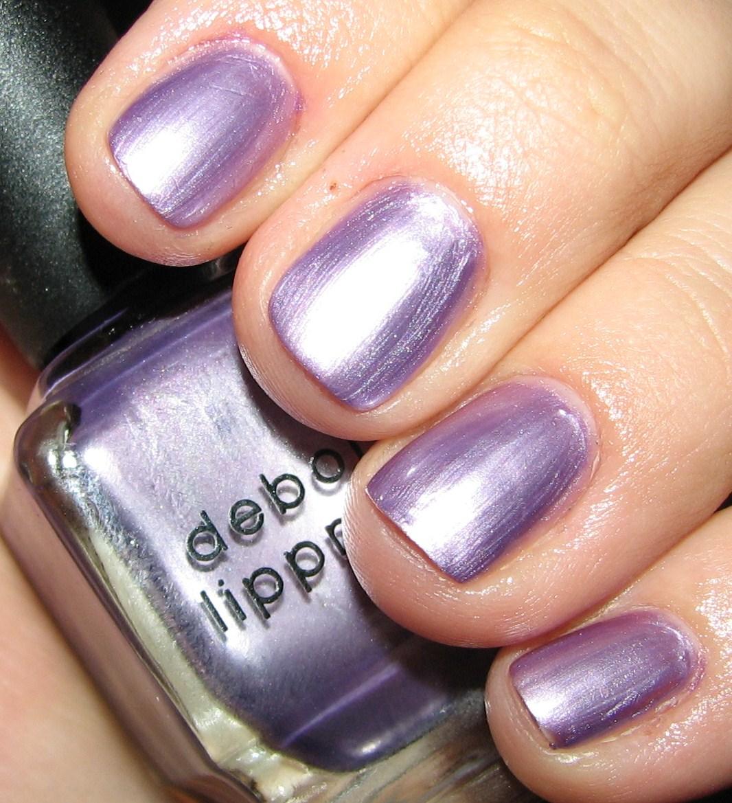 Deborah Lippmann PURPLE RAIN Nail Polish Swatches and Review ...