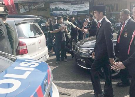 Presiden Jokowi Jalan Kaki 2 KM ke Lokasi HUT ke-72 TNI, Gatot: Kami Mohon Maaf