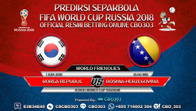 Prediksi Bola Korea Republic VS Bosnia-Herzegovina 01 Juni 2018