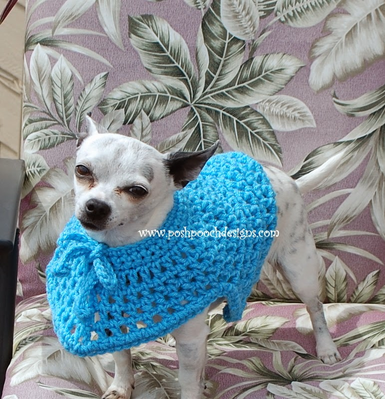 Posh Pooch Designs Dog Clothes Summertime Dog Poncho Crochet Pattern
