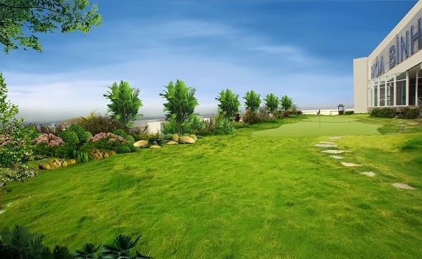 Không gian ngoài trời chung cư Hòa Bình Green City