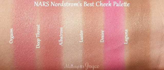 NARS Nordstrom's Best Cheek Blush Palette Limited Edition 2016 Swatches