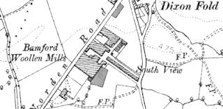 Bamford Woollen Mills, OS 1890.