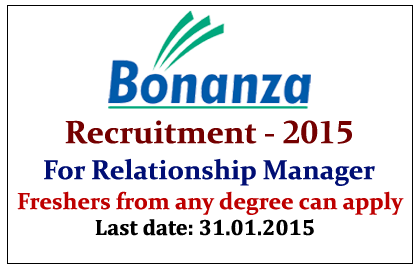 Bonanza Recruitment 2015
