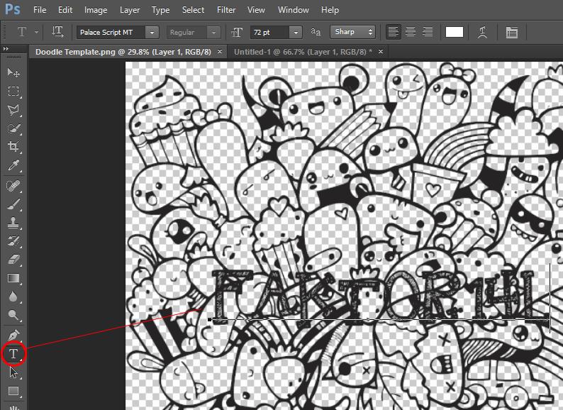 Membuat Doodle Art di Photoshop