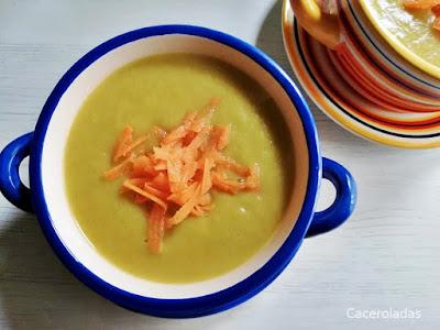 Puré o crema de calabacín y zanahorias