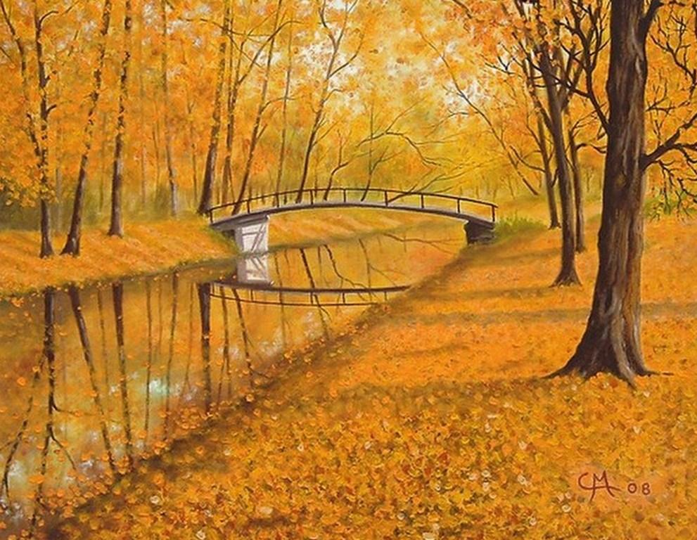cuadros pinturas oleos cuadros paisajes natural oto241o