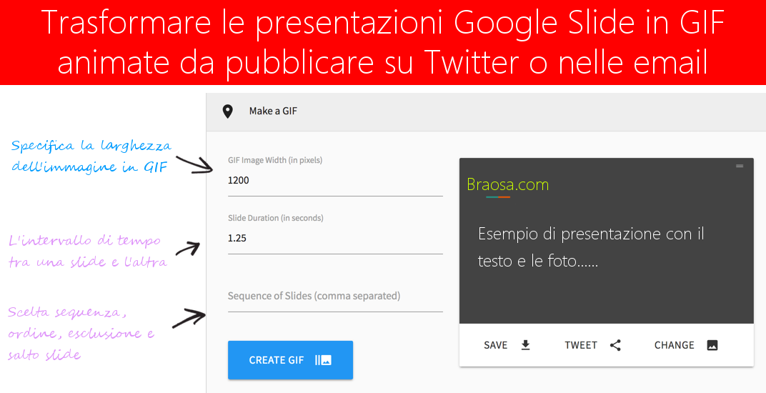 Convertire le Presentazioni Google Slide in GIF animate da mettere su Twitter o da allegare nelle mail