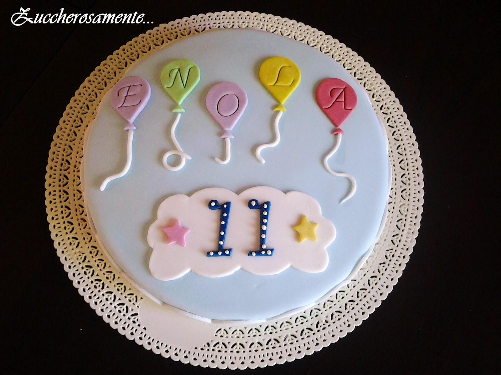 Zuccherosamente: Torta di compleanno con i palloncini